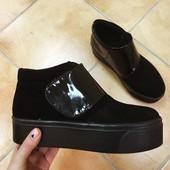 Ботинки в стиле Kenzo Кожа и замша