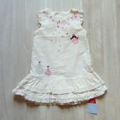 Новый шикарный вельветовый сарафан для девочки. TU. Размер 12-18 месяцев.