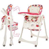 1517 стульчик для кормления высокий Bambi детский пластиковый