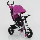 Велосипед дет. 3-х колёсный 5555а Розовый