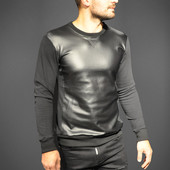 Реглан мужской Sweatshirt Leather Black 1003, р. м, л, хл, код mvvk-1-12