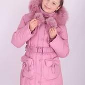 Пальто зимнее для девочки Donilo 116, 122, 128, 134, 140 р.