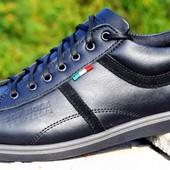 Мужские кожаные кроссовки размеры 39-46