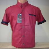 Мужская рубашка в клетку с коротким рукавом G-Port, Турция.
