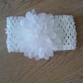 Новая нарядная повязка с цветком на голову