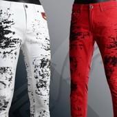 красные штаны в разводах Amy Vermont  XL