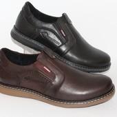 Мужские кожаные осенние туфли, 2 цвета