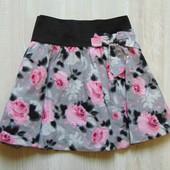Стильная юбка для девочки. Внутри на подкладке. Пояс декорирован бантом. Tammy. Размер 12-13 лет
