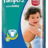 Подгузники Pampers Active Baby Jumbo Pack 4+ 62 шт