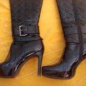 Натуральные кожаные демисезонные сапоги Sasha Fabiani,размер 37.