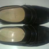 """кожаные туфли """"clarks"""", 41 размер, 25,5см- стелька"""