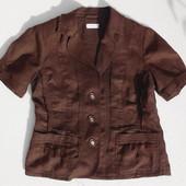 Bonita. Романтичный льняной пиджак с коротким рукавом.