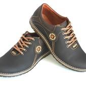 Кожаные мужские туфли в стиле комфорт весна/осень