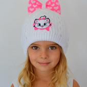 Зимняя шапка для девочки р. 46-50 и 50-54.