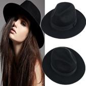 13-6 Модная весенне-осенняя шляпа/ Женская шляпа с широкими полями/ Ковбойская шляпа