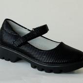 Kimboo арт.XL20-6 черный Туфли для девочек.