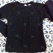 Брендовый свитер с камушками от Zara