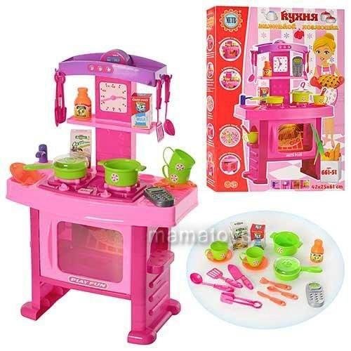 Кухня детская эффекты настоящей. 661-51 звук, свет, посуда фото №1