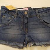 Шорты джинсовые Alive Германия 116р. 100% Хлопок