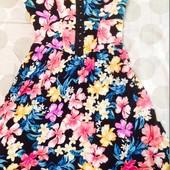 Летние брендовые платья сарафаны с цветами ged london, colins, xs в идеале