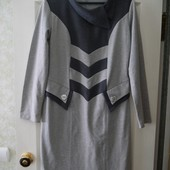 Удобное трикотажное платье к осени 44-46р.Без следов носки