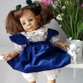 Характерная кукла Jumako клеймо 38-40см