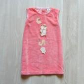 Стильное велюровое платье для девочки. Размер 12 месяцев. Состояние: новой вещи.