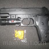 Детский игрушечный пистолет пневматический с фонариком P 2118-С