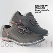 Кожаные демисезонные мужские туфли, 2 цвета