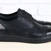 Спортивные туфли кожаные на шнурках