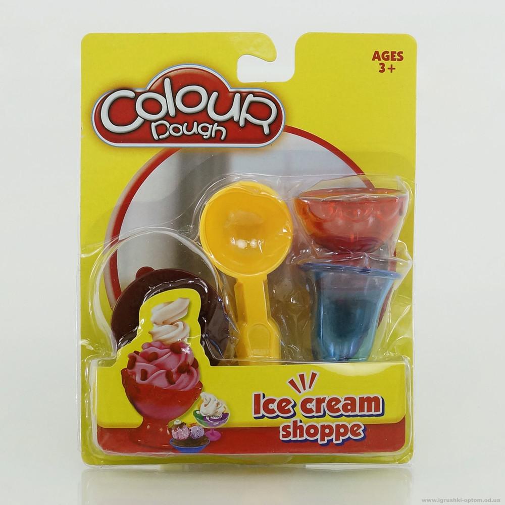 """Масса для лепки """"мороженое"""" набор стаканы ложка фото №1"""