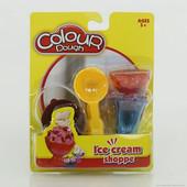 """Масса для лепки """"Мороженое"""" набор стаканы ложка"""