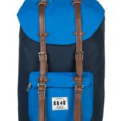 Рюкзак с ремешками и синим карманом