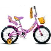 велосипед розовый с Disney Рапунцель 16