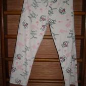 Штаны флисовые, пижамные, женские, размер S