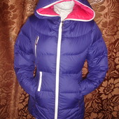 Фирменный пуховик куртка парка на 44 размер в идеале
