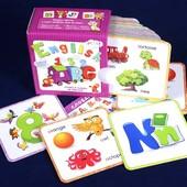 Карточки для изучения английского алфавита и цифр серия Step by step