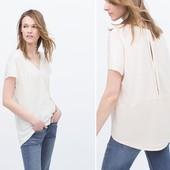 Свободная ассиметричная футболка женская zara л
