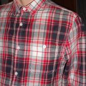 Рубашка с длинным рукавом красная клетка. Размер М