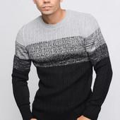 Двухцветный мужской свитер 3 цвета , 23079