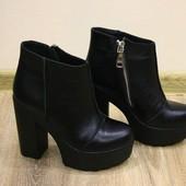 женские кожаные ботинки демисезон/зима Модель: ИН 818-401