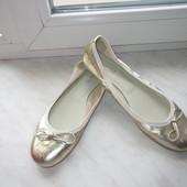Кожаные немецкие балетки Janet D. 39 р.