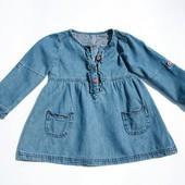2-3 года. Красивое джинсовое платье