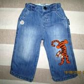 Крутые теплые джинсы Дисней 6-9 мес