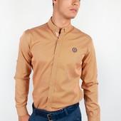 Рубашка мужская горчичная №94F086