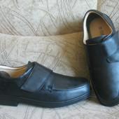 туфли черные Roamers, 43,5 размер, на широкую ногу