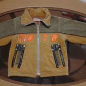 Вельветовая куртка на флисе