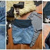 Стильная джинсовая юбка для беременных, р-р ХЛ