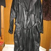 Пальто мужское,кожаное,р.54-56,США.Состояние нового.