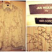 Продам мужскую рубашку Jan Paulsen с вышивкой, б/у, по вороту 39/10